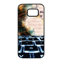 Ransomware Cyber Crime Security Samsung Galaxy S7 Edge Black Seamless Case by Celenk