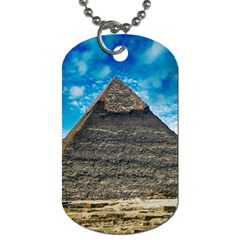 Pyramid Egypt Ancient Giza Dog Tag (two Sides) by Celenk