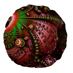 Fractal Symmetry Math Visualization Large 18  Premium Round Cushions by Celenk