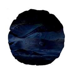 Landscape Night Lunar Sky Scene Standard 15  Premium Round Cushions by Celenk