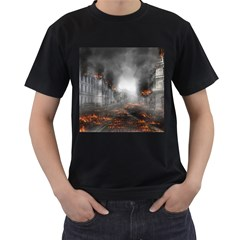 Armageddon Destruction Apocalypse Men s T Shirt (black) by Celenk