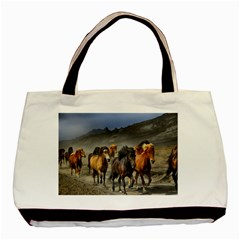 Horses Stampede Nature Running Basic Tote Bag