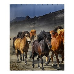 Horses Stampede Nature Running Shower Curtain 60  X 72  (medium)  by Celenk