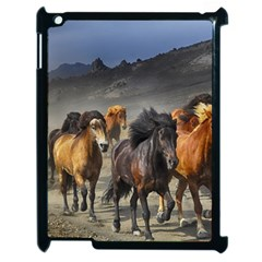 Horses Stampede Nature Running Apple Ipad 2 Case (black) by Celenk
