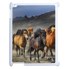 Horses Stampede Nature Running Apple Ipad 2 Case (white) by Celenk