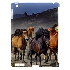 Horses Stampede Nature Running Apple Ipad 3/4 Hardshell Case (compatible With Smart Cover) by Celenk
