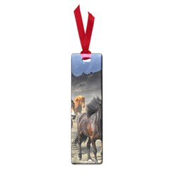 Horses Stampede Nature Running Small Book Marks by Celenk