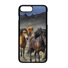 Horses Stampede Nature Running Apple Iphone 7 Plus Seamless Case (black)