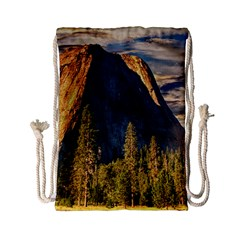 Mountains Landscape Rock Forest Drawstring Bag (small) by Celenk