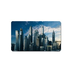 Skyscraper Cityline Urban Skyline Magnet (name Card) by Celenk