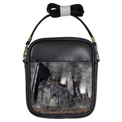 Apocalypse War Armageddon Girls Sling Bags by Celenk