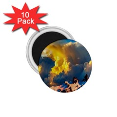 Mountains Clouds Landscape Scenic 1 75  Magnets (10 Pack)  by Celenk