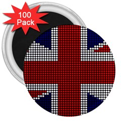 Union Jack Flag British Flag 3  Magnets (100 Pack) by Celenk