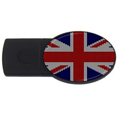 Union Jack Flag British Flag Usb Flash Drive Oval (2 Gb) by Celenk