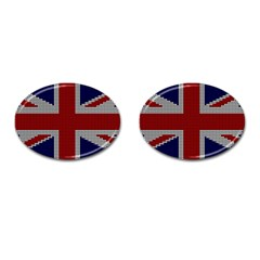 Union Jack Flag British Flag Cufflinks (oval) by Celenk