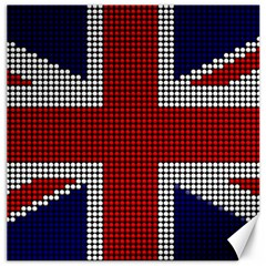 Union Jack Flag British Flag Canvas 12  X 12   by Celenk
