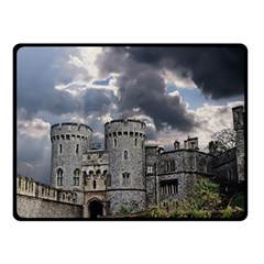 Castle Building Architecture Double Sided Fleece Blanket (small)  by Celenk