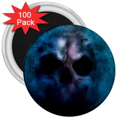 Skull Horror Halloween Death Dead 3  Magnets (100 Pack) by Celenk