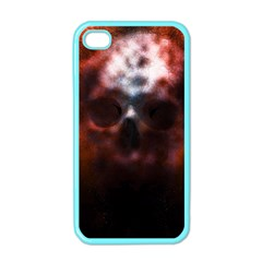 Skull Horror Halloween Death Dead Apple Iphone 4 Case (color) by Celenk