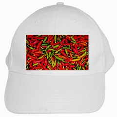 Chilli Pepper Spicy Hot Red Spice White Cap by Celenk