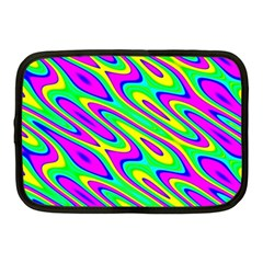 Lilac Yellow Wave Abstract Pattern Netbook Case (medium)  by Celenk