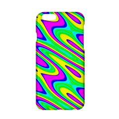 Lilac Yellow Wave Abstract Pattern Apple Iphone 6/6s Hardshell Case by Celenk