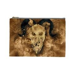 Skull Demon Scary Halloween Horror Cosmetic Bag (large)  by Celenk