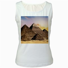 Pyramids Egypt Women s White Tank Top by Celenk