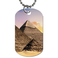 Pyramids Egypt Dog Tag (two Sides) by Celenk