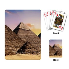 Pyramids Egypt Playing Card by Celenk
