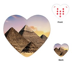Pyramids Egypt Playing Cards (heart)  by Celenk