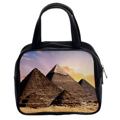 Pyramids Egypt Classic Handbags (2 Sides) by Celenk