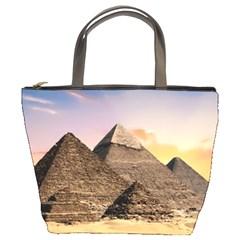 Pyramids Egypt Bucket Bags by Celenk