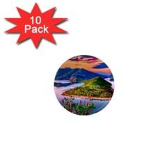 Landscape River Nature Water Sky 1  Mini Magnet (10 Pack)  by Celenk