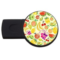 Cute Fruits Pattern Usb Flash Drive Round (2 Gb) by paulaoliveiradesign