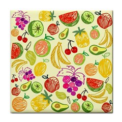 Cute Fruits Pattern Face Towel by paulaoliveiradesign