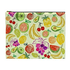 Cute Fruits Pattern Cosmetic Bag (xl) by paulaoliveiradesign