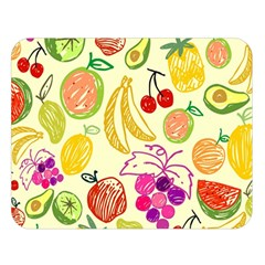Cute Fruits Pattern Double Sided Flano Blanket (large)  by paulaoliveiradesign