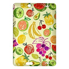 Cute Fruits Pattern Amazon Kindle Fire Hd (2013) Hardshell Case by paulaoliveiradesign