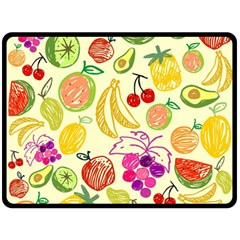 Cute Fruits Pattern Double Sided Fleece Blanket (large)  by paulaoliveiradesign