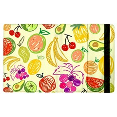 Cute Fruits Pattern Apple Ipad Pro 9 7   Flip Case by paulaoliveiradesign
