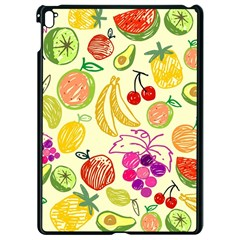 Cute Fruits Pattern Apple Ipad Pro 9 7   Black Seamless Case by paulaoliveiradesign