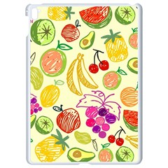 Cute Fruits Pattern Apple Ipad Pro 9 7   White Seamless Case by paulaoliveiradesign