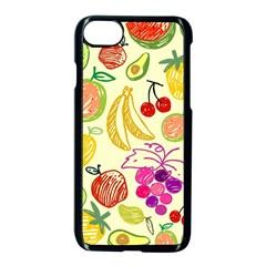 Cute Fruits Pattern Apple Iphone 7 Seamless Case (black) by paulaoliveiradesign