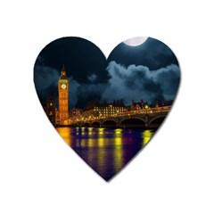 London Skyline England Landmark Heart Magnet by Celenk