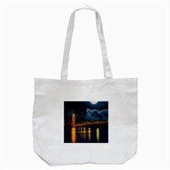 London Skyline England Landmark Tote Bag (white) by Celenk