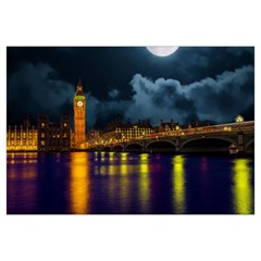 London Skyline England Landmark Canvas Cosmetic Bag (large)