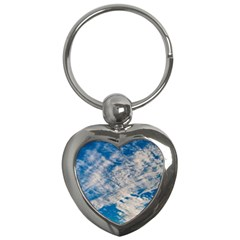 Clouds Sky Scene Key Chains (heart)  by Celenk
