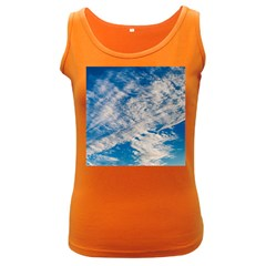 Clouds Sky Scene Women s Dark Tank Top by Celenk