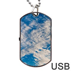 Clouds Sky Scene Dog Tag Usb Flash (one Side) by Celenk